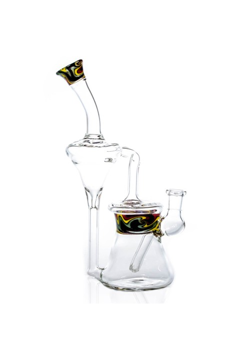 "BG-67 10"" Fixed Diffused Downstem Recycler Rig Water Pipe with 14mm Female Joint Bogart Glass"